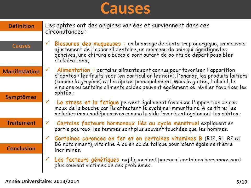 Causes Définition Causes Manifestation Symptômes Traitement Conclusion