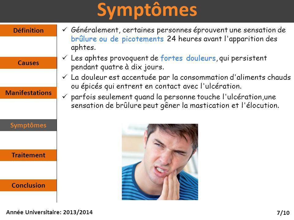 Symptômes Définition.