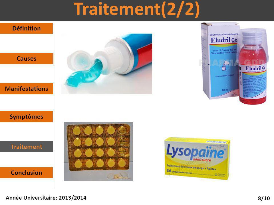 Traitement(2/2) Définition Causes Manifestations Symptômes Traitement