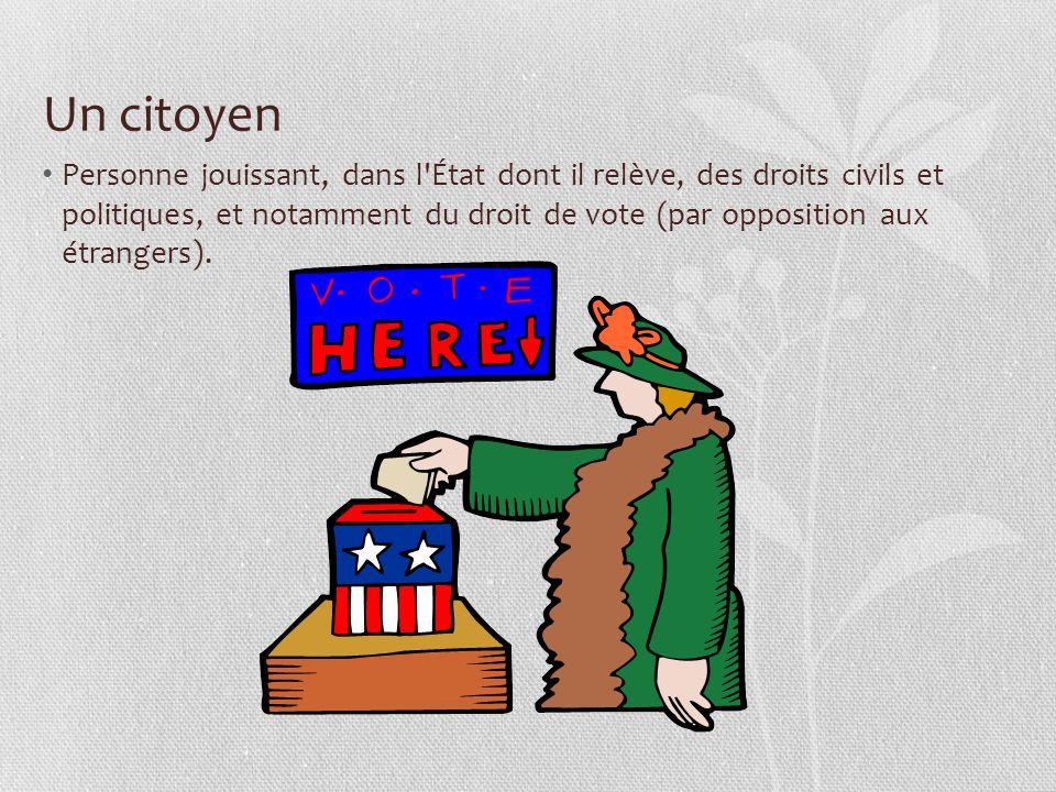 Un citoyen