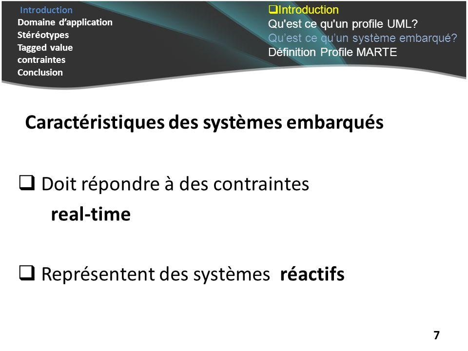 Caractéristiques des systèmes embarqués