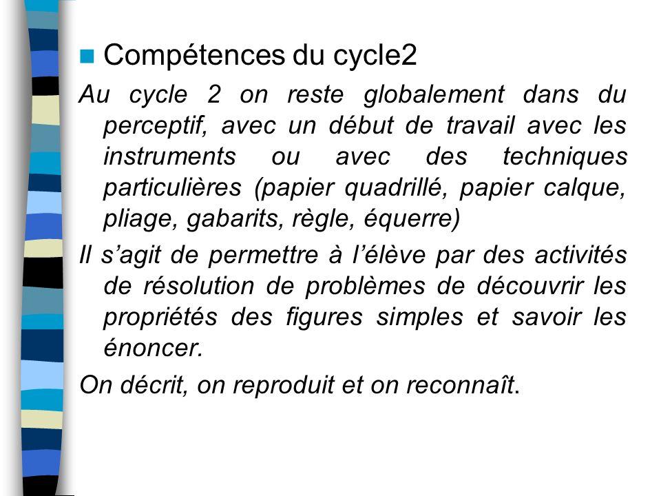 Compétences du cycle2