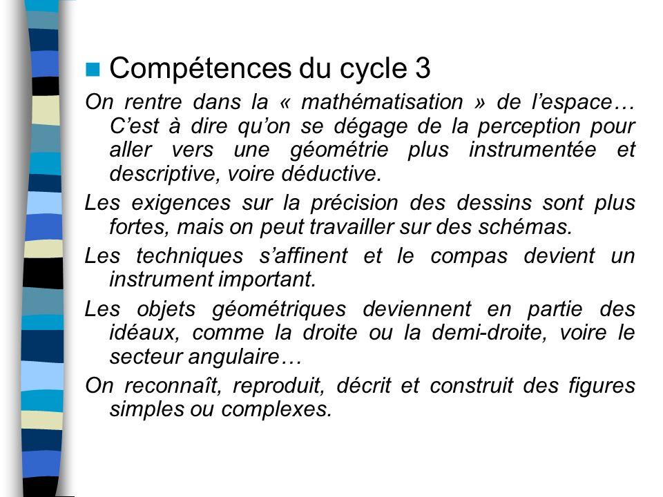 Compétences du cycle 3