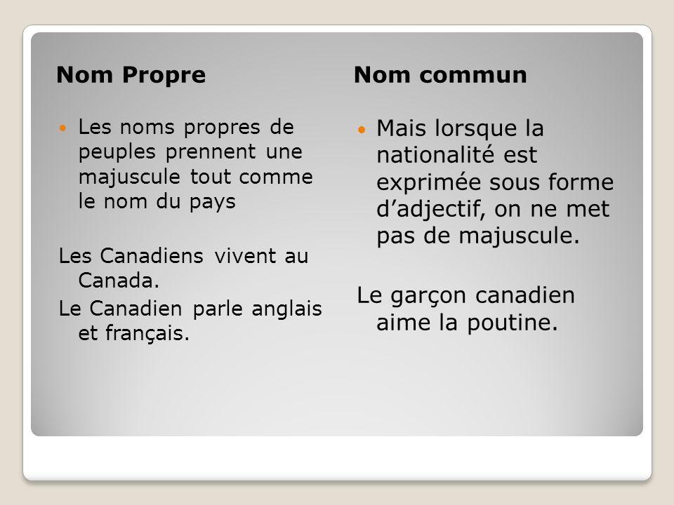 Le garçon canadien aime la poutine.