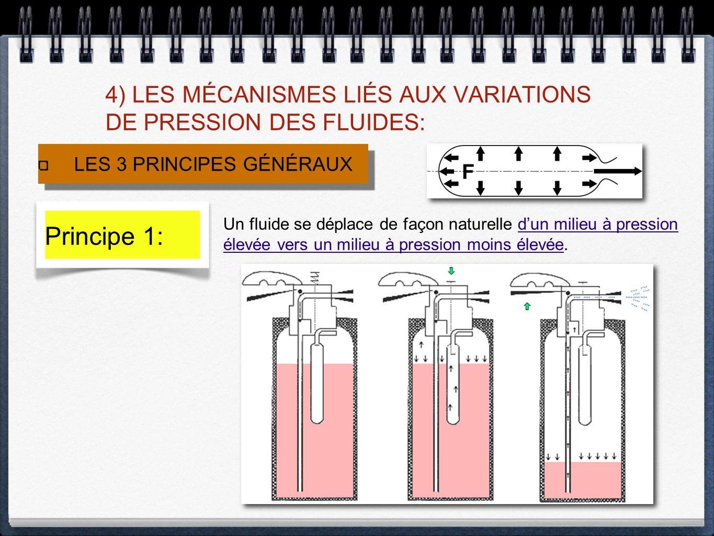 4) LES MÉCANISMES LIÉS AUX VARIATIONS DE PRESSION DES FLUIDES: