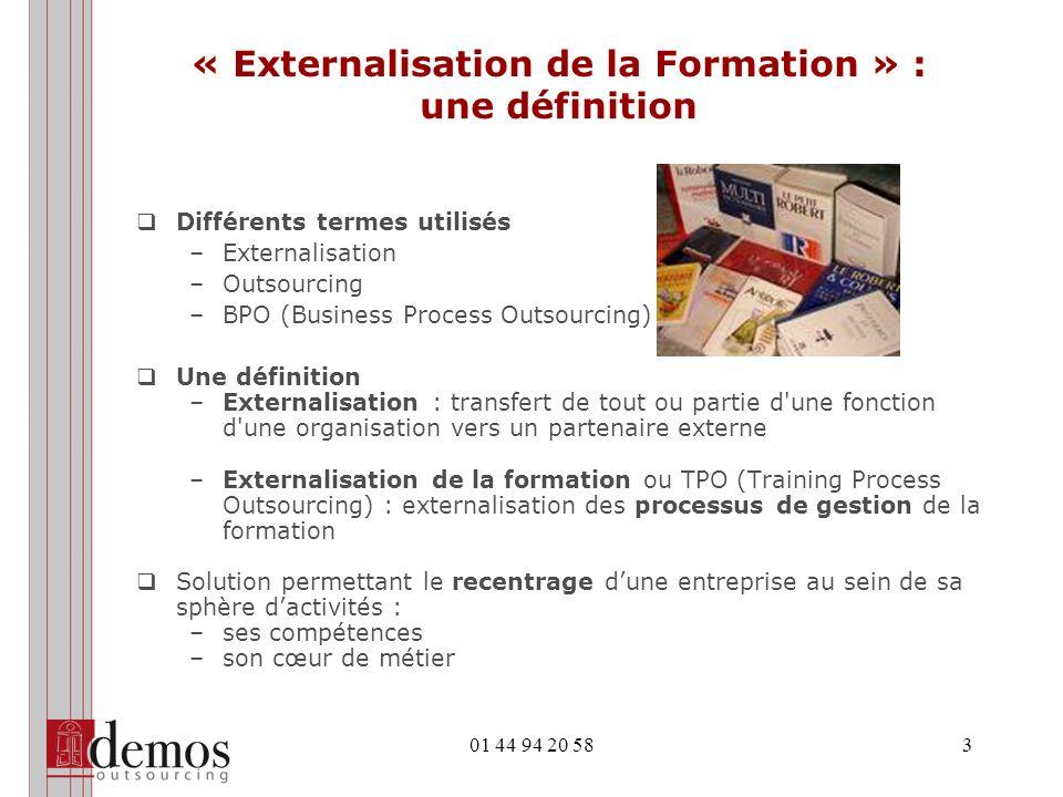 « Externalisation de la Formation » : une définition