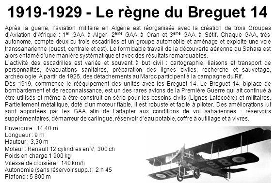 1919-1929 - Le règne du Breguet 14