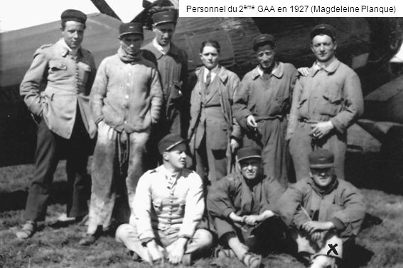 Personnel du 2ème GAA en 1927 (Magdeleine Planque)