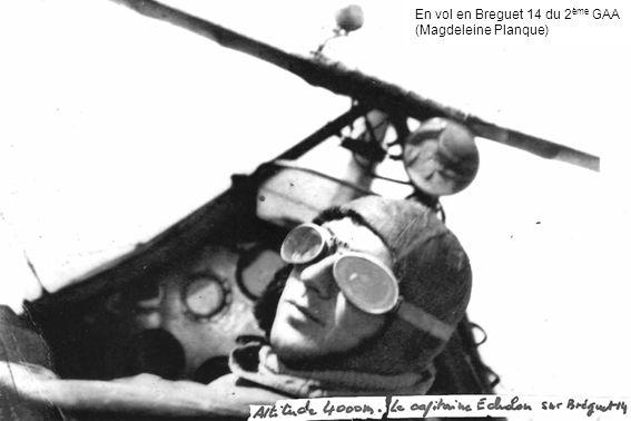 En vol en Breguet 14 du 2ème GAA (Magdeleine Planque)