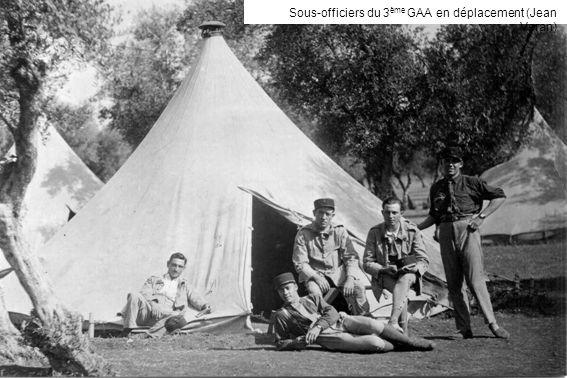 Sous-officiers du 3ème GAA en déplacement (Jean Veran)
