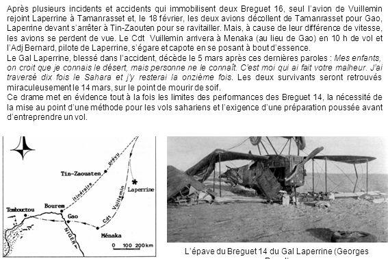 L'épave du Breguet 14 du Gal Laperrine (Georges Paget)