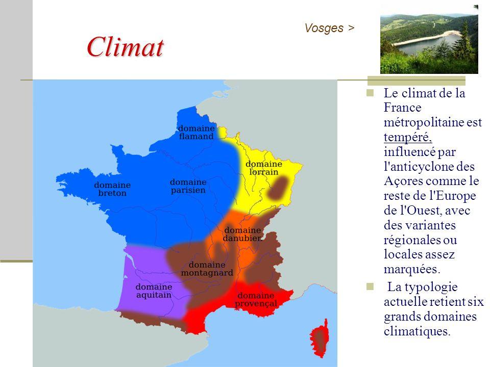 Climat Vosges >