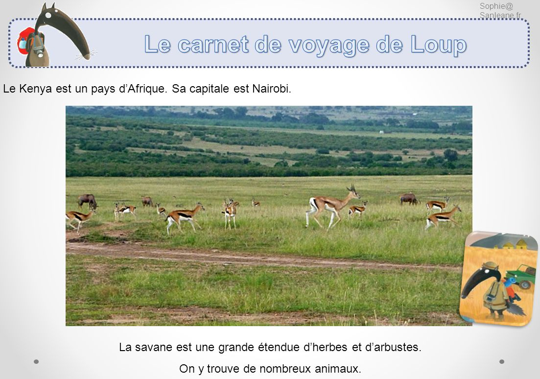 Le carnet de voyage de Loup
