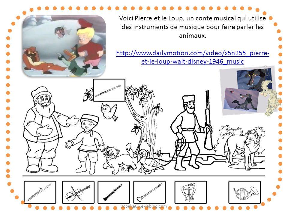 Voici Pierre et le Loup, un conte musical qui utilise des instruments de musique pour faire parler les animaux.