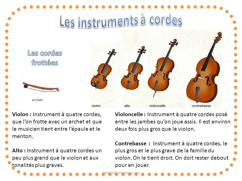 Les instruments à cordes