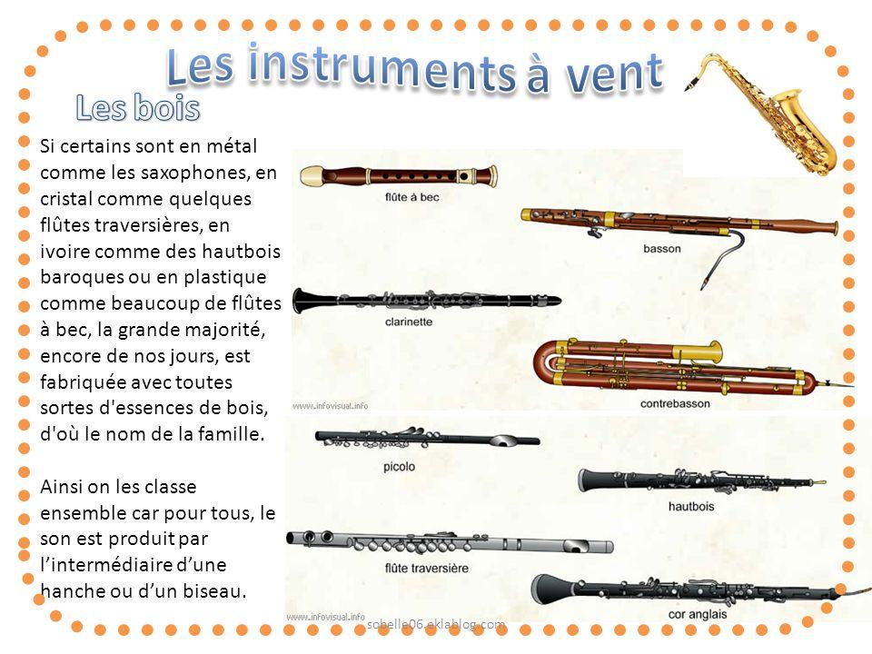 Les bois Les instruments à vent
