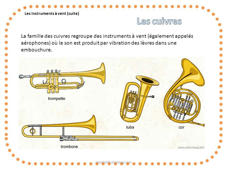Les instruments à vent (suite)