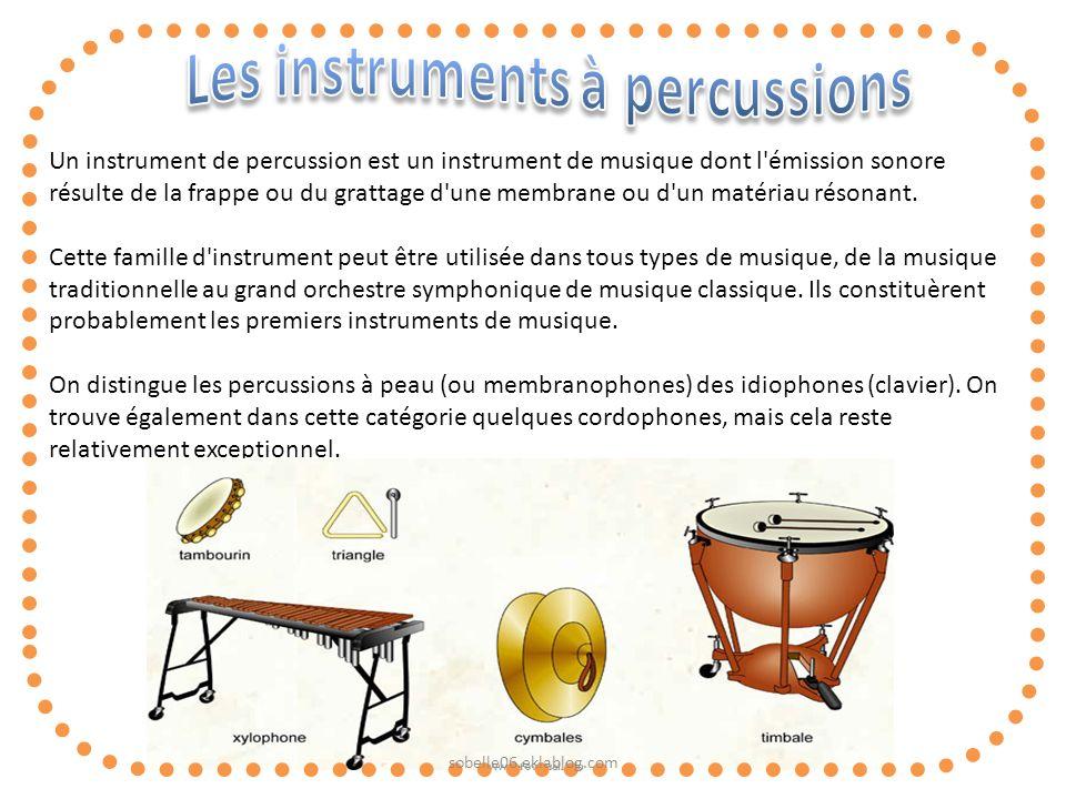 Les instruments à percussions