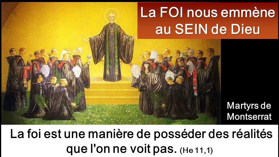 La FOI nous emmène au SEIN de Dieu