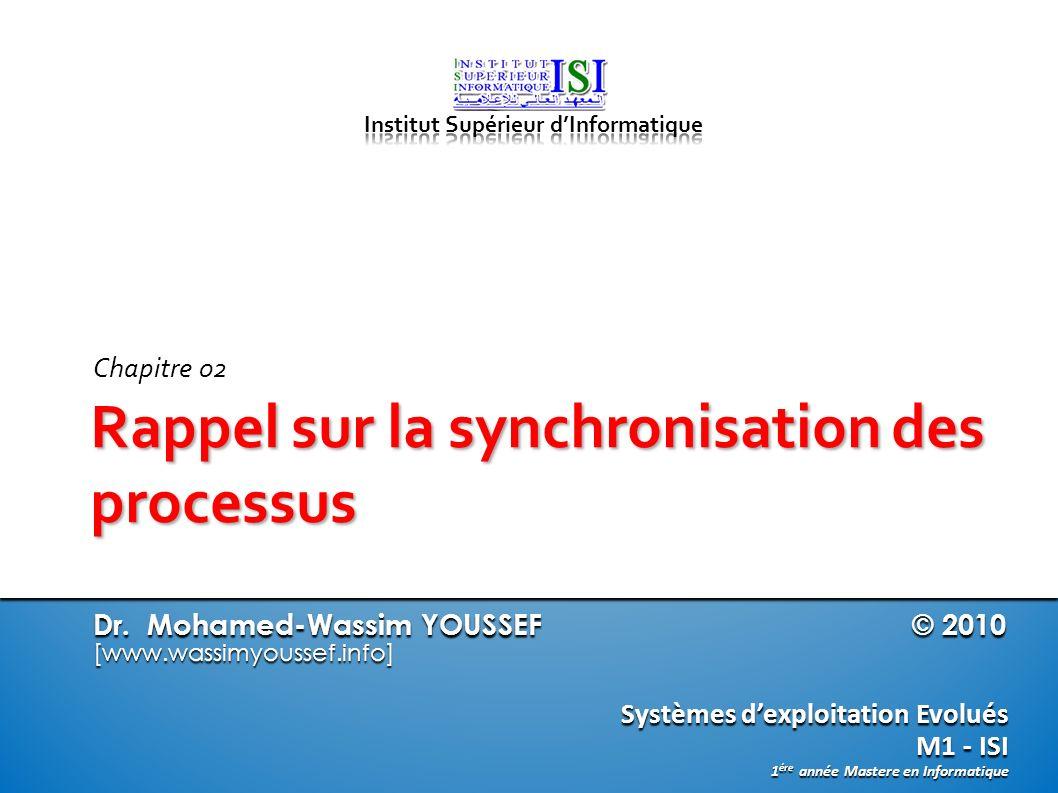 Rappel sur la synchronisation des processus