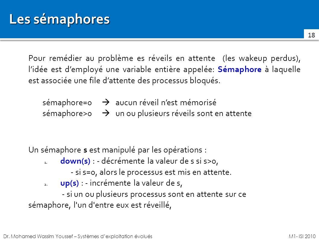 Les sémaphores