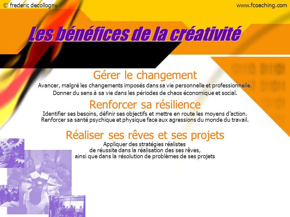 Les bénéfices de la créativité