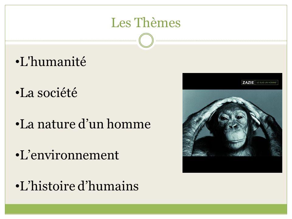 Les Thèmes L humanité La société La nature d'un homme L'environnement