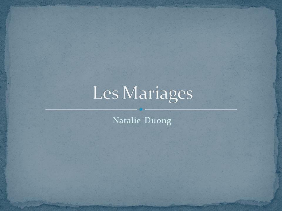 Les Mariages Natalie Duong