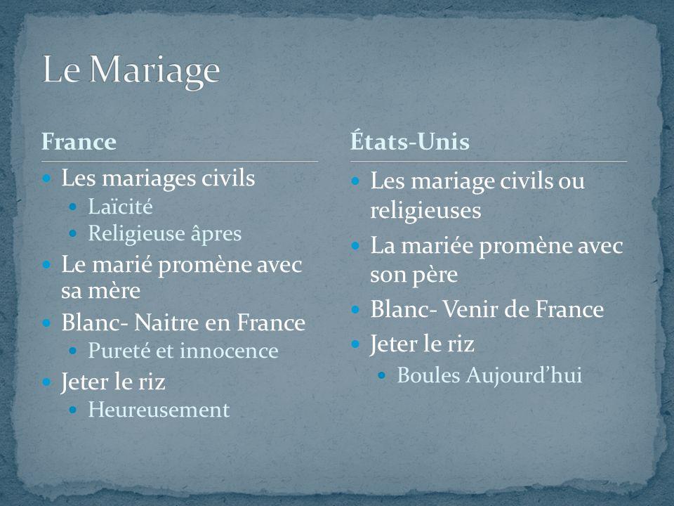 Le Mariage France États-Unis Les mariages civils