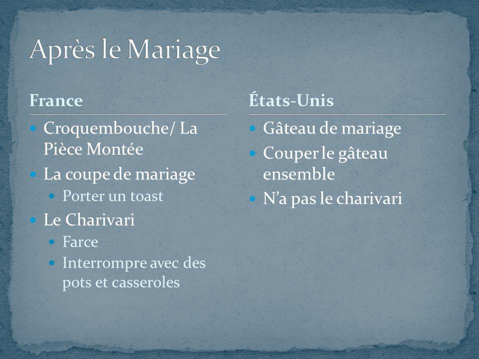Après le Mariage France États-Unis Croquembouche/ La Pièce Montée