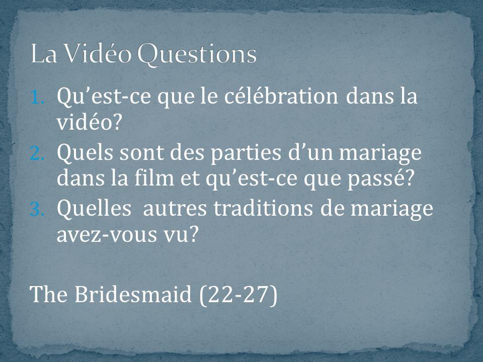 La Vidéo Questions Qu'est-ce que le célébration dans la vidéo