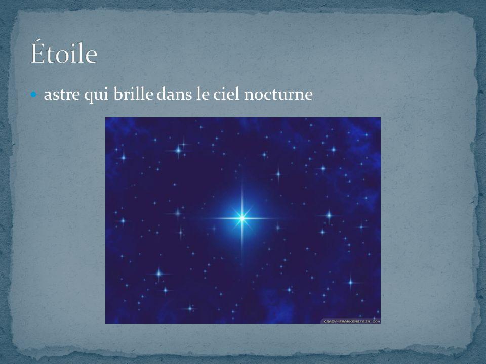 Étoile astre qui brille dans le ciel nocturne