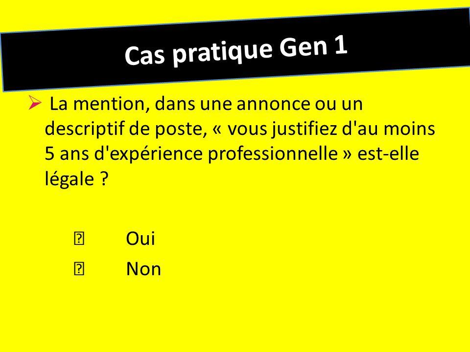 Cas pratique Gen 1