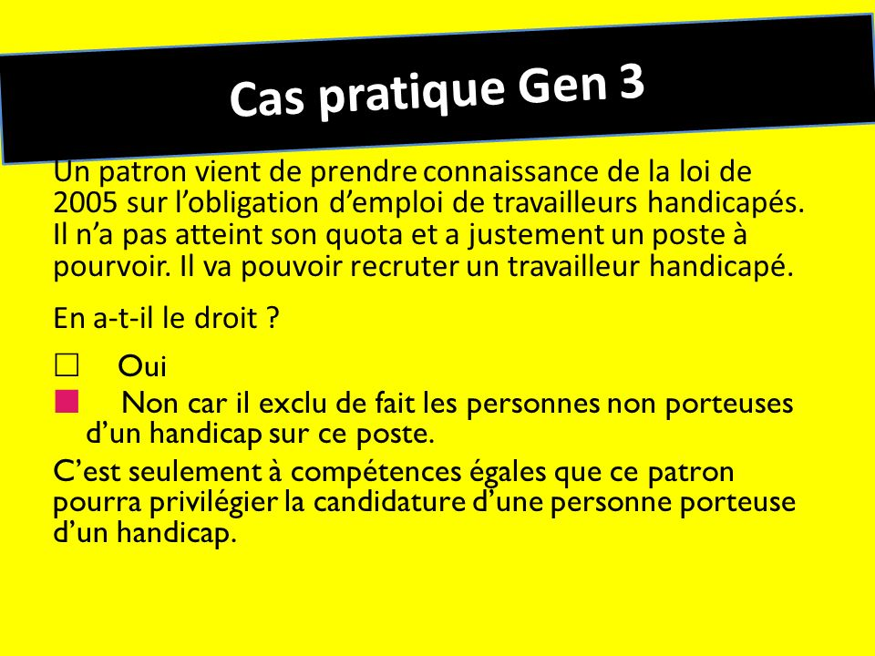 Cas pratique Gen 3