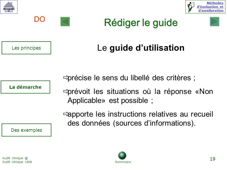 Le guide d'utilisation