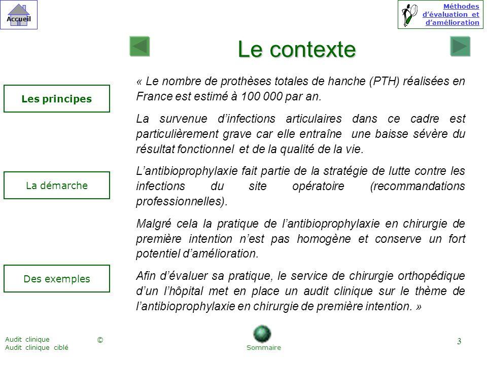 Le contexte « Le nombre de prothèses totales de hanche (PTH) réalisées en France est estimé à 100 000 par an.
