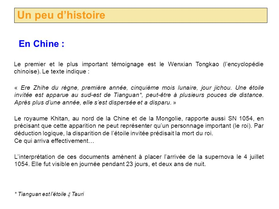 Un peu d'histoire En Chine :