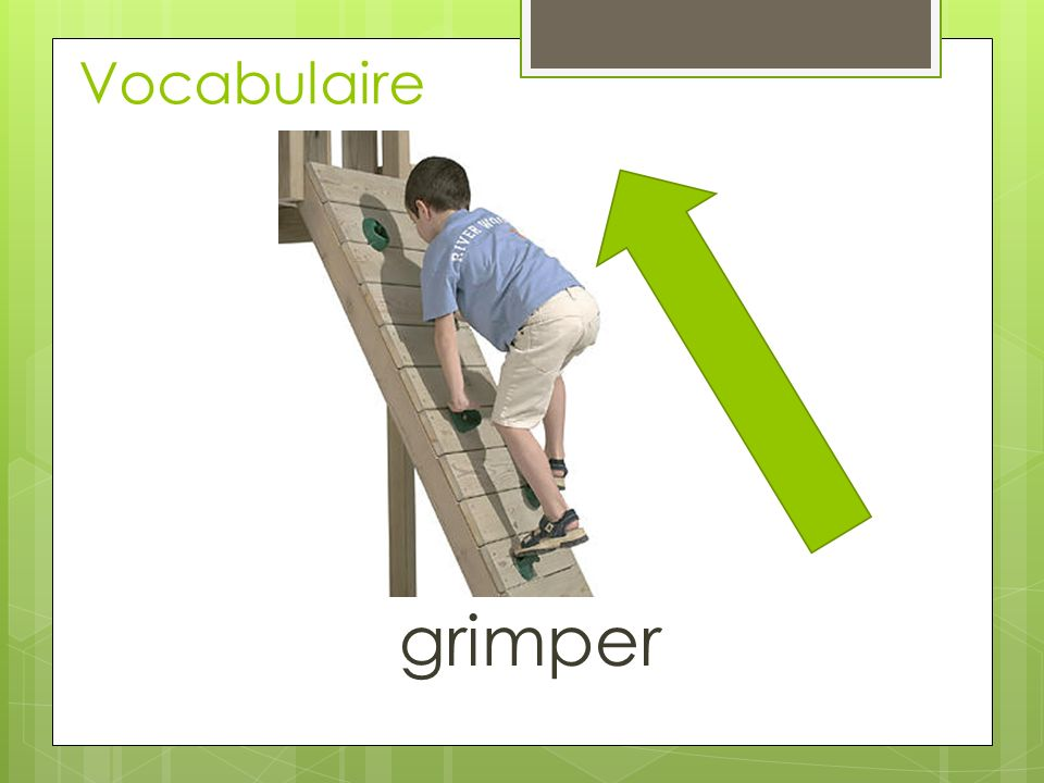 Vocabulaire grimper