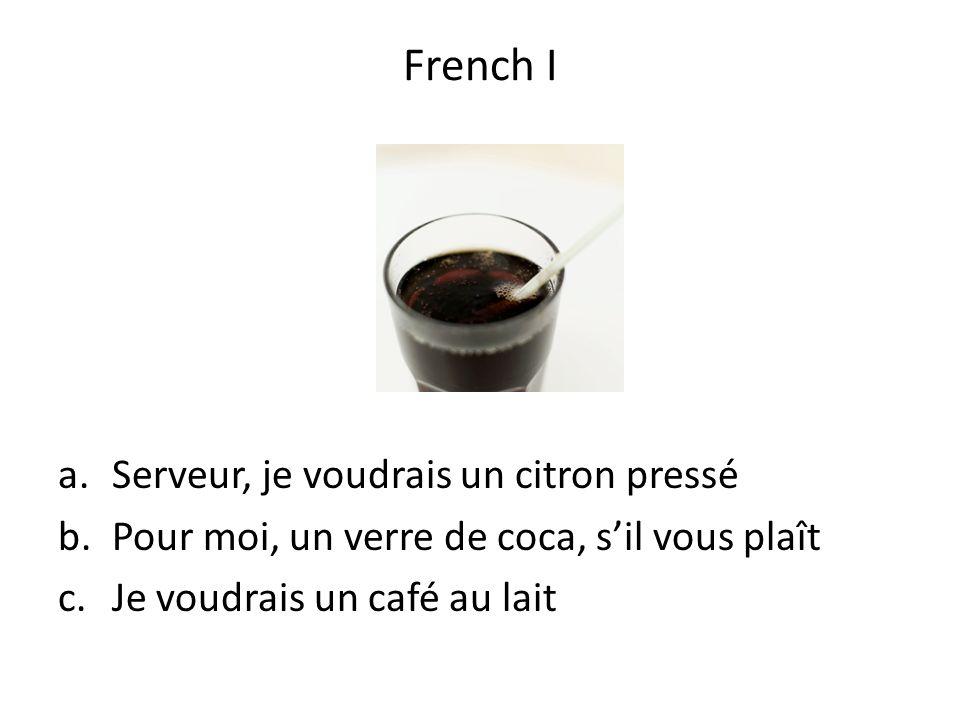 French I Serveur, je voudrais un citron pressé