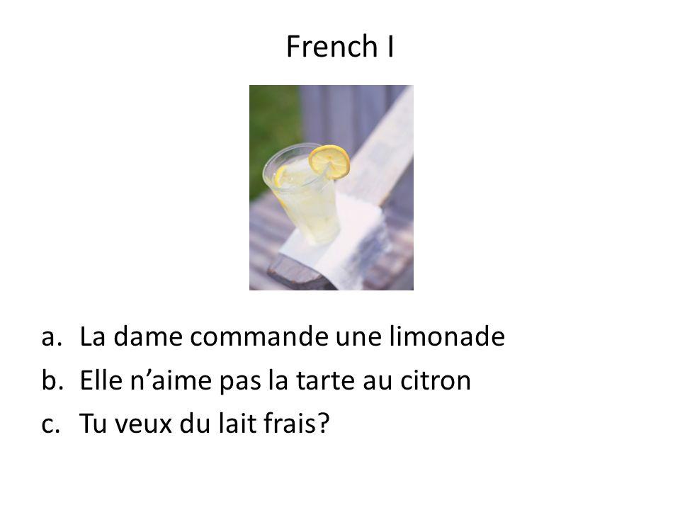 French I La dame commande une limonade
