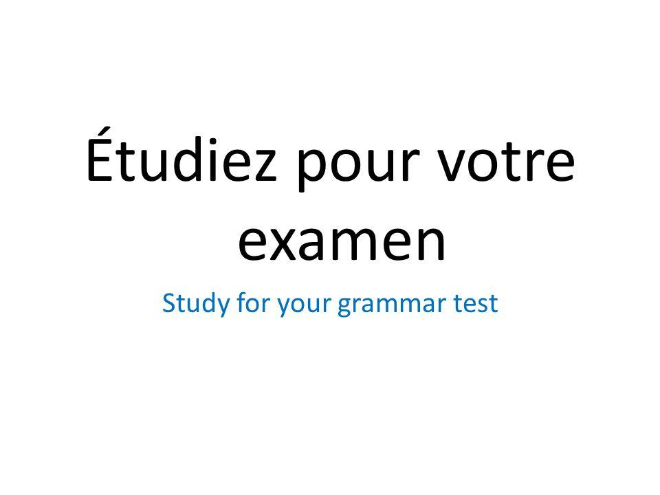 Étudiez pour votre examen