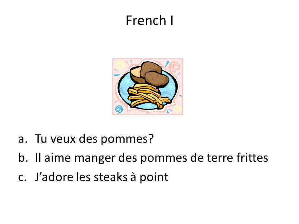 French I Tu veux des pommes