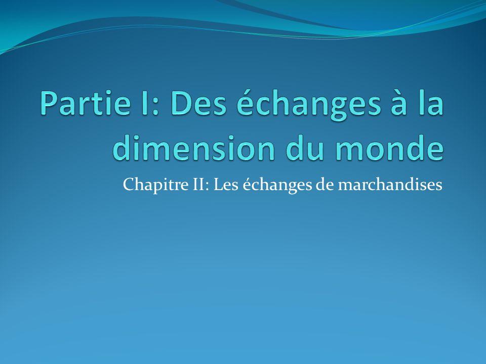 Partie I: Des échanges à la dimension du monde