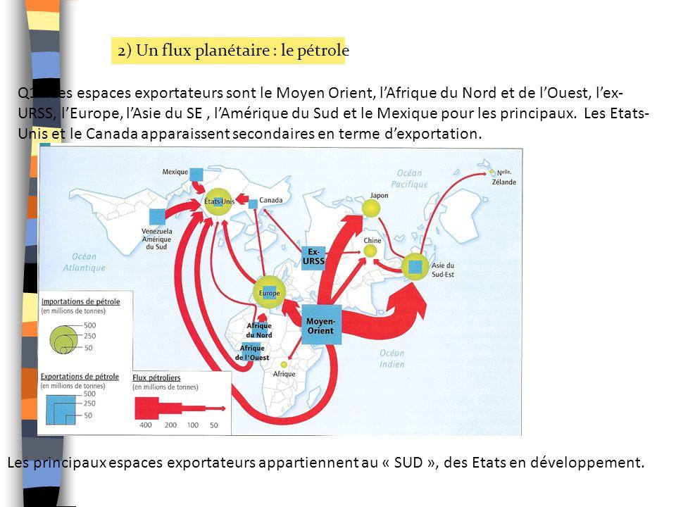 2) Un flux planétaire : le pétrole