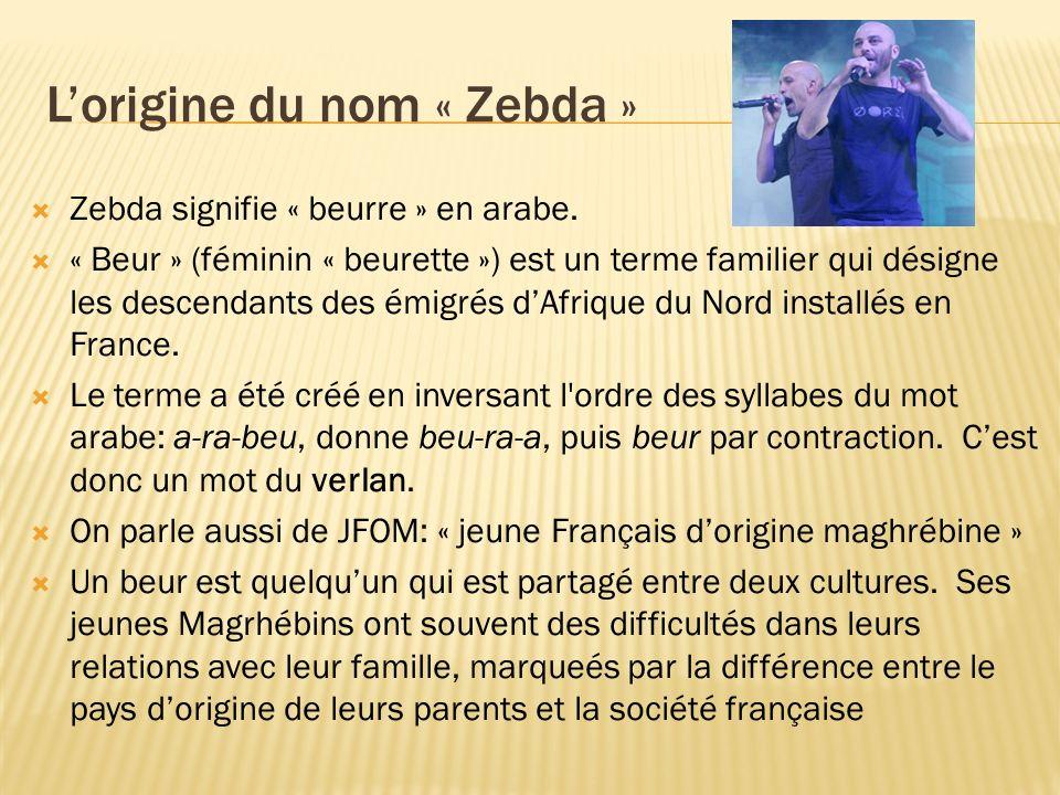 L'origine du nom « Zebda »