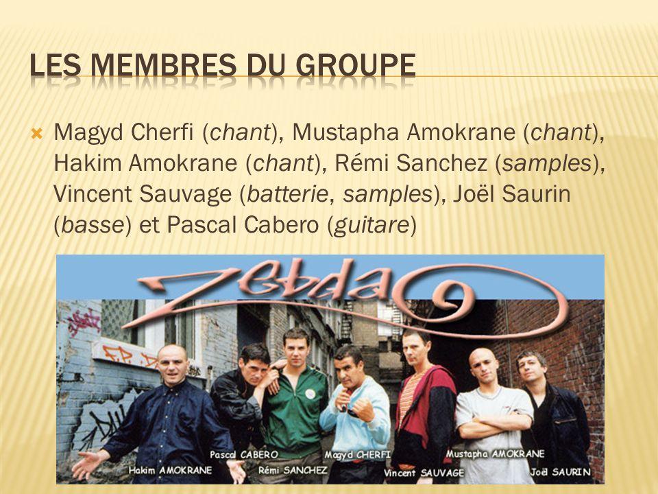 Les membres du groupe