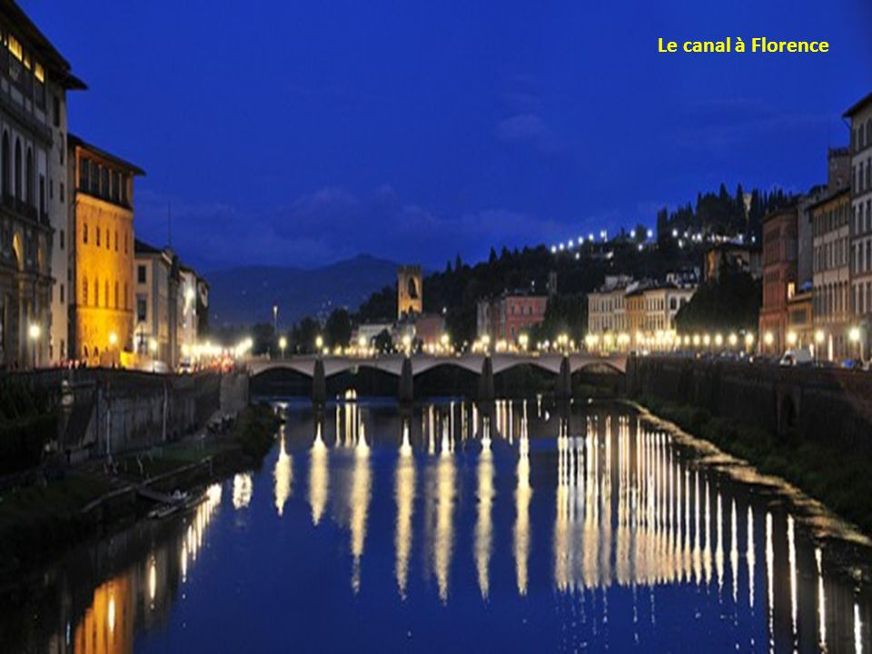 Le canal à Florence