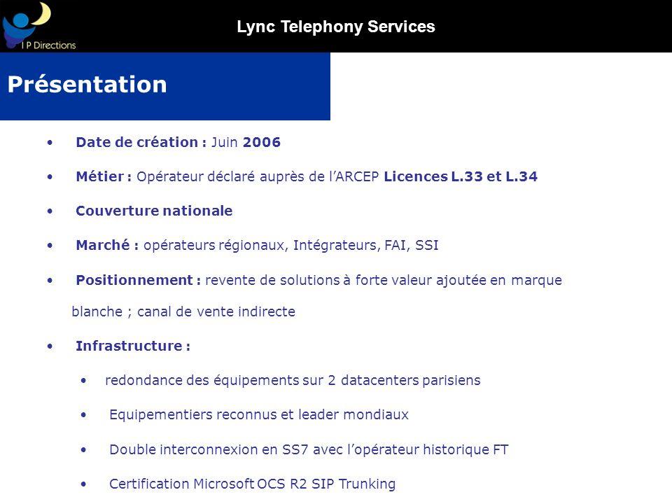 Présentation Date de création : Juin 2006