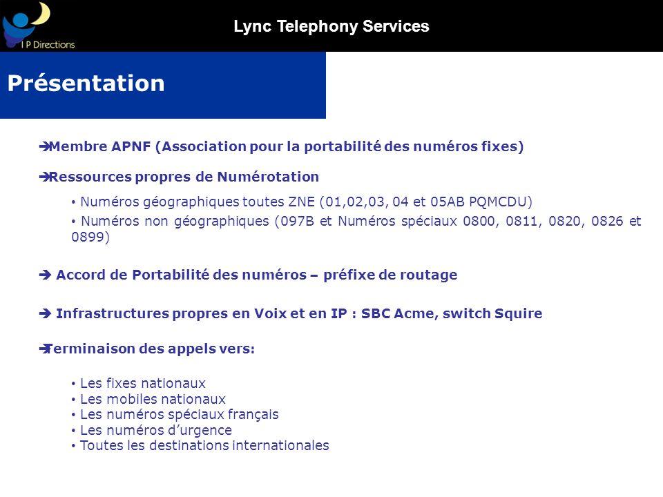 Présentation Membre APNF (Association pour la portabilité des numéros fixes) Ressources propres de Numérotation.