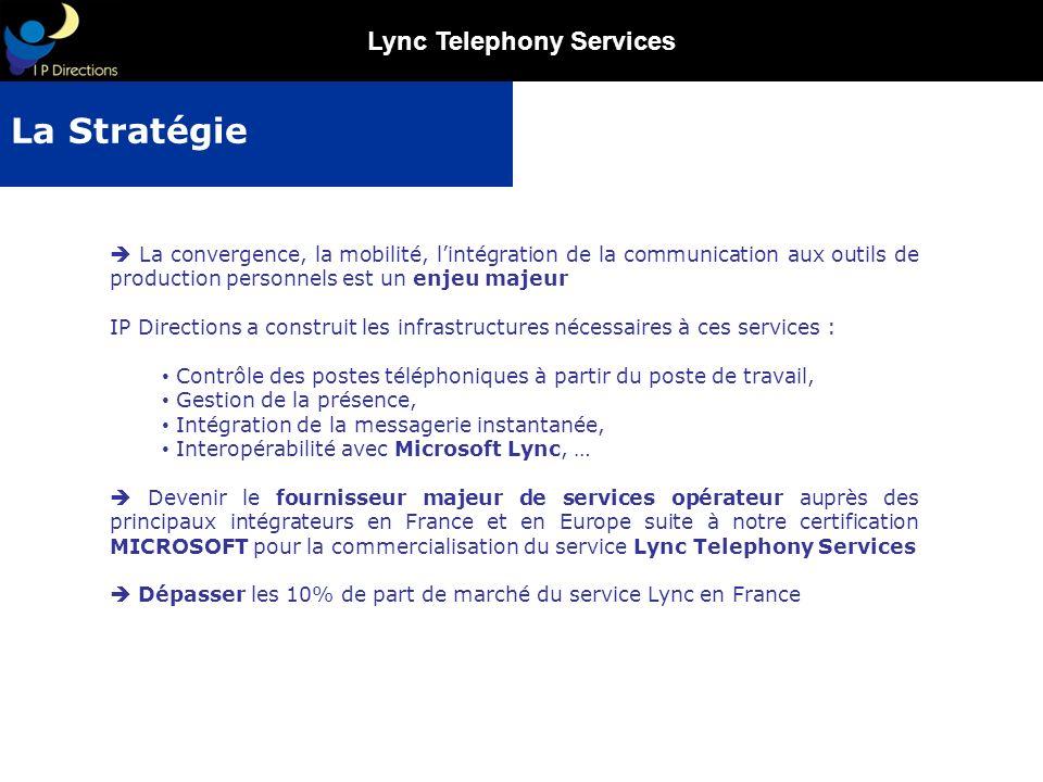 La Stratégie  La convergence, la mobilité, l'intégration de la communication aux outils de production personnels est un enjeu majeur.